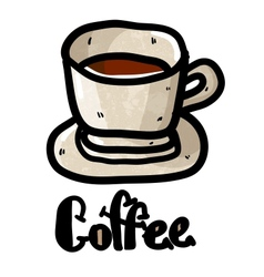 A cup of coffee doodle vector image