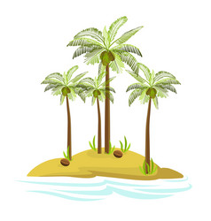 A palm tree on an island vector