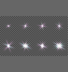 a set of light effects for design each element in vector image