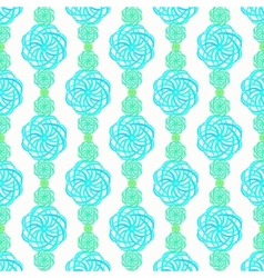 Abstract flower pattern in blue and green vector