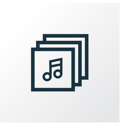 Albums outline symbol premium quality isolated vector
