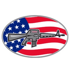 Armalite m-16 colt ar-15 assault rifle flag vector