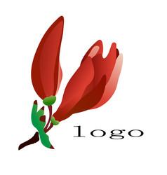Azalea logo flower vector