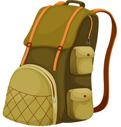 Backpack vector image