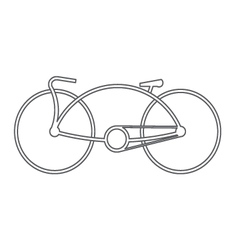 bicycle symbol design vector image