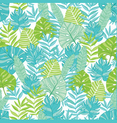 blue green tropical leaves summer hawaiian vector image