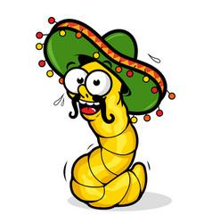 Cartoon tequila worm vector