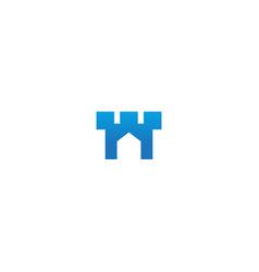 castle building company logo vector image