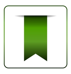 Cgeen bookmark symbol vector image