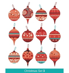 Christmas Balls Set vector image