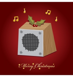 Christmas music speaker vector image