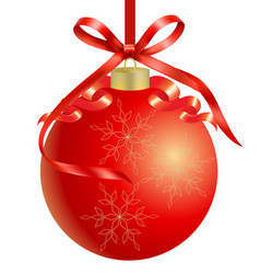 christmas red ball background vector image
