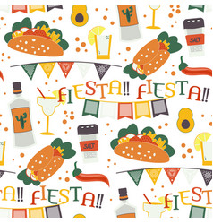 cinco de mayo seamless pattern with vector image