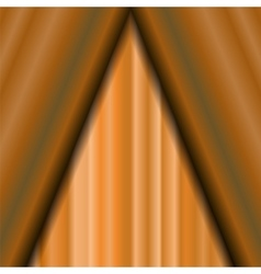Cinema Closed Orange Curtain vector