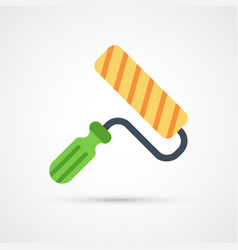 colored paint roller trendy symbol vector image