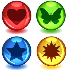 Colorful symbol spheres vector