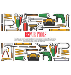 Construction and repair tools vector