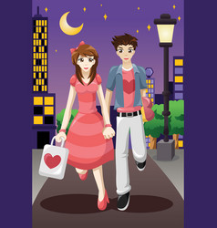 couple going out on a valentines day vector image