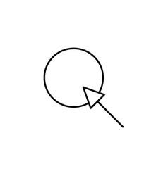 cursor target icon vector image