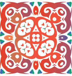Decorative color ceramic talavera tiles vector