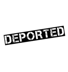 Deported typographic stamp vector
