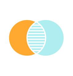 discrete maths glyph color icon vector image