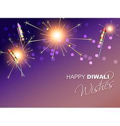 Diwali festival fireworks vector
