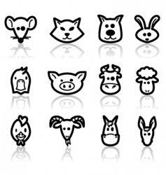 domestic animals vector image