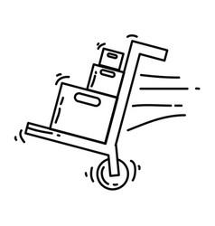 e-commerce shipment hand drawn icon set outline vector image
