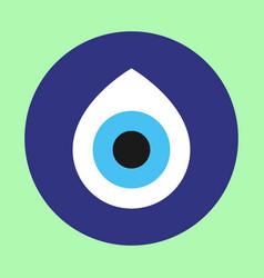 Evil eye - turkish amulet vector