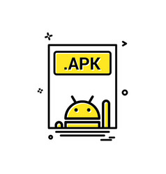 file files apk icon design vector image