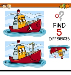 Find the differences task for kids vector