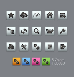 ftp hosting icons - satinbox series vector image