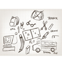 Funny hand drawn doodles vector