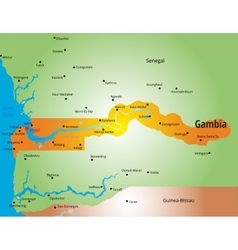 Gambia vector image