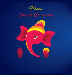 ganesh chaturthi festival poster vector image