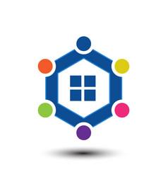 home family logo vector image