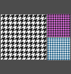 houndstooth pattern vector image