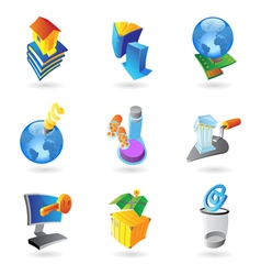 Icons for industry and ecology vector image