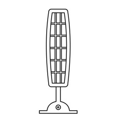 Infrared of quartz heater icon outline style vector