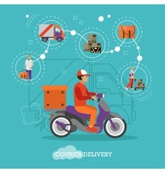 Logistic and delivery courier service concept vector