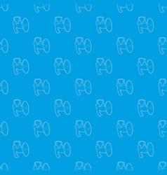 loudspeaker pattern seamless blue vector image