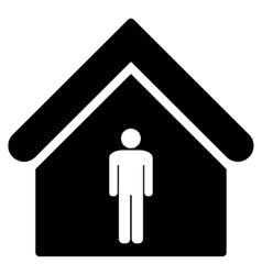 Man Toilet Building Flat Icon vector