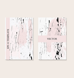 marble liquid flow in pink monochrome colors vector image