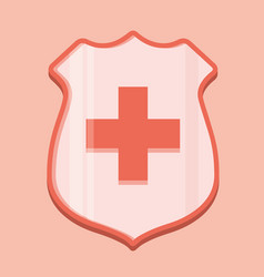 medical shield icon vector image