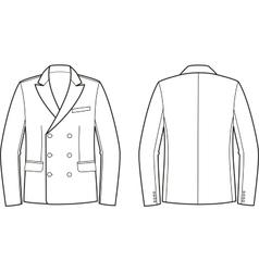 Men business jacket vector