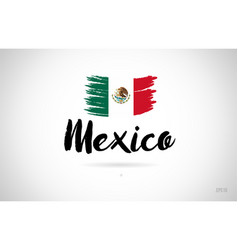 Mexico country flag concept with grunge design vector