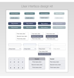 Modern user interface screen template kit for vector image