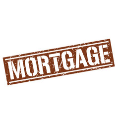 Mortgage square grunge stamp vector
