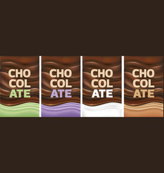 multicolor chocolate background vector image